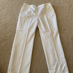 NWOT Nine & Co White Dress Trousers